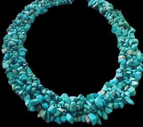 A necklace of turquoise