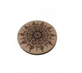 Wooden decorative coaster